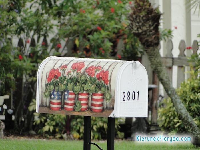 Patriotyczna skrzynka na listy