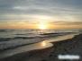 Zachód słońca na South Lido Key Beach