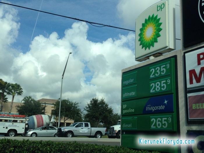 Cena benzyny Floryda