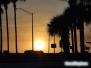 Zachód słońca autostrada