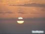 Zachód słońca na plaży South Lido Key Beach