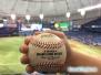 Złapana piłka na meczu baseballa