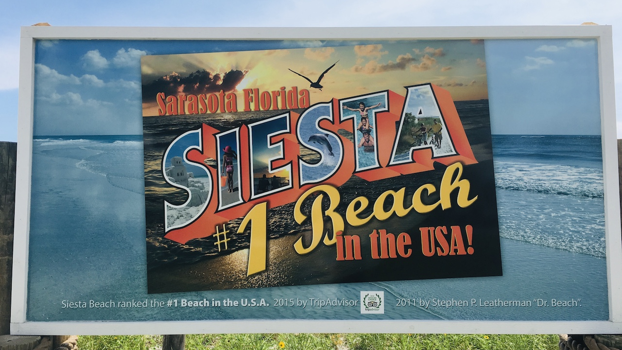 Siesta Key Beach Znak